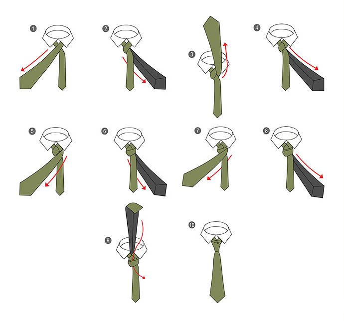 20 способов завязать галстук