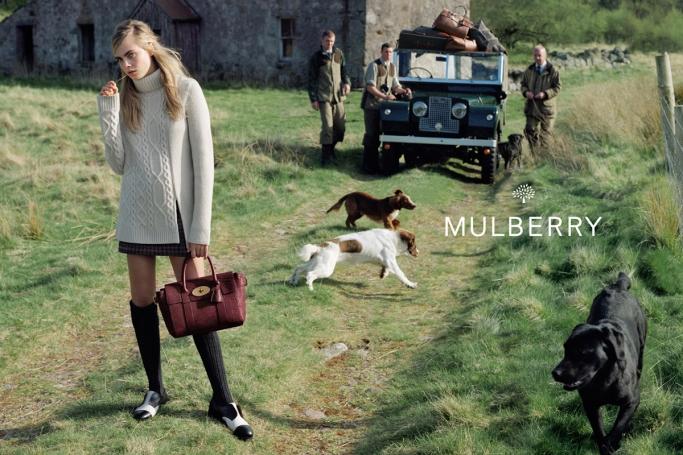 Модная теплая одежда от Mulberry