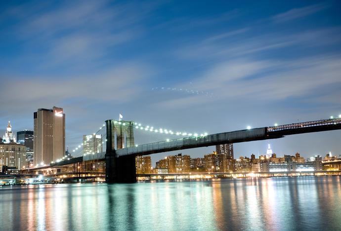Нью-Йорк США мост