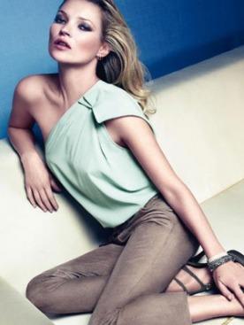 Кейт Мосс для рекламы Liu Jo весна 2011