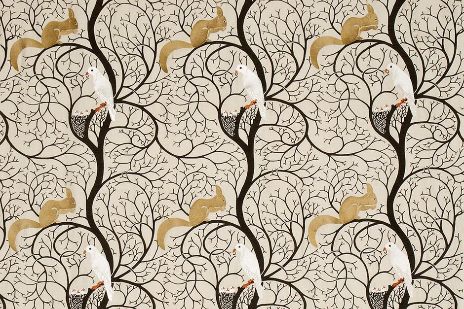 Ткань Squirrel & Dove Embroidery