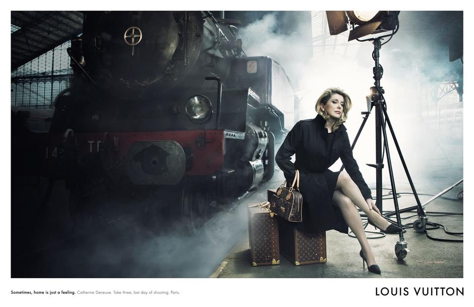 Катрин Денев в рекламной кампании Louis Vuitton