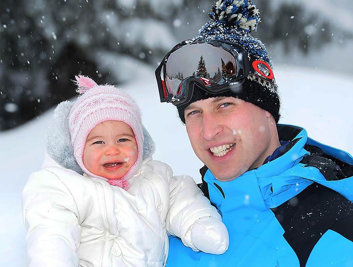 Принц Уильям с принцессой Шарлоттой