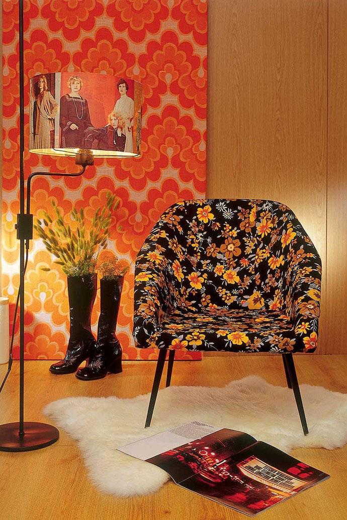 Оранжевый цвет для акцентной стены