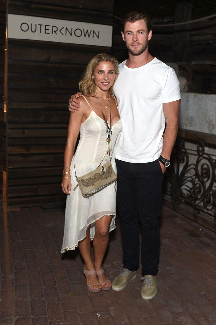Крис Хэмсворт с женой: фото