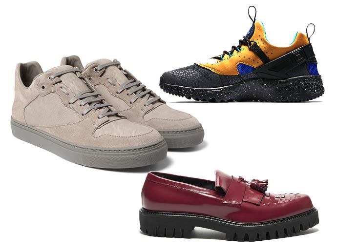 кроссовки Nike, кеды Balenciaga, лоферы Alberto Guardiani