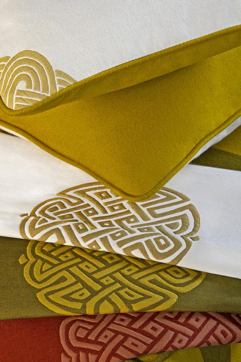 Ткани Nodo D'Amore, коллекция Maharaja, Loro Piana Interiors, салон DeLuxe Home Creation, шоу-румы Promemoria.