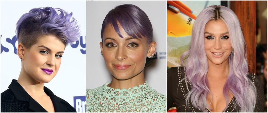 Знаменитости с фиолетовыми волосами