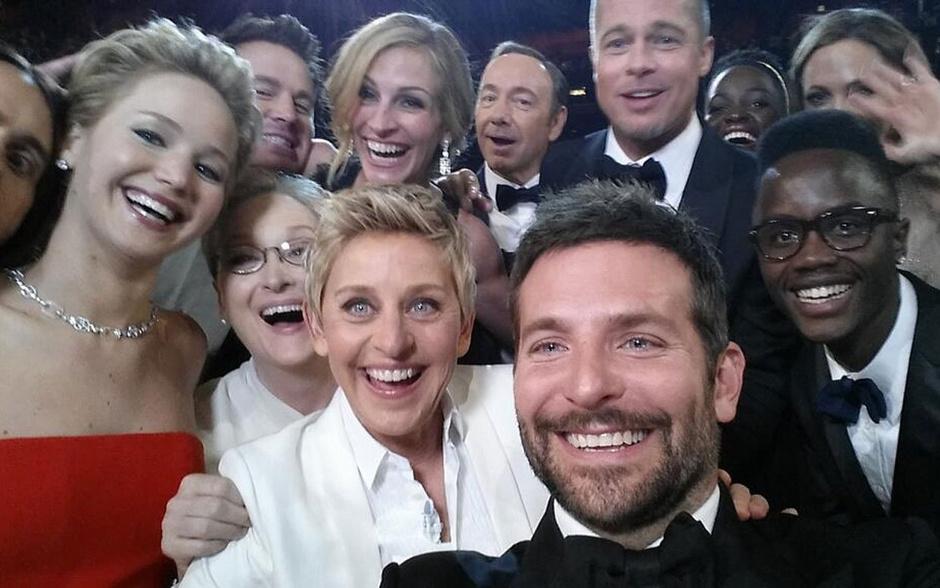 Одно из самых популярных селфи Оскар-2014