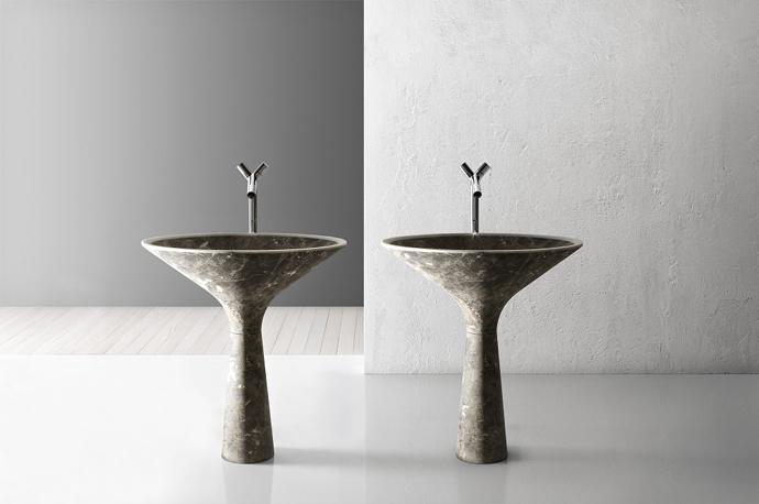 Kreoo, раковина, натуральный камень, дизайн, ванная комната