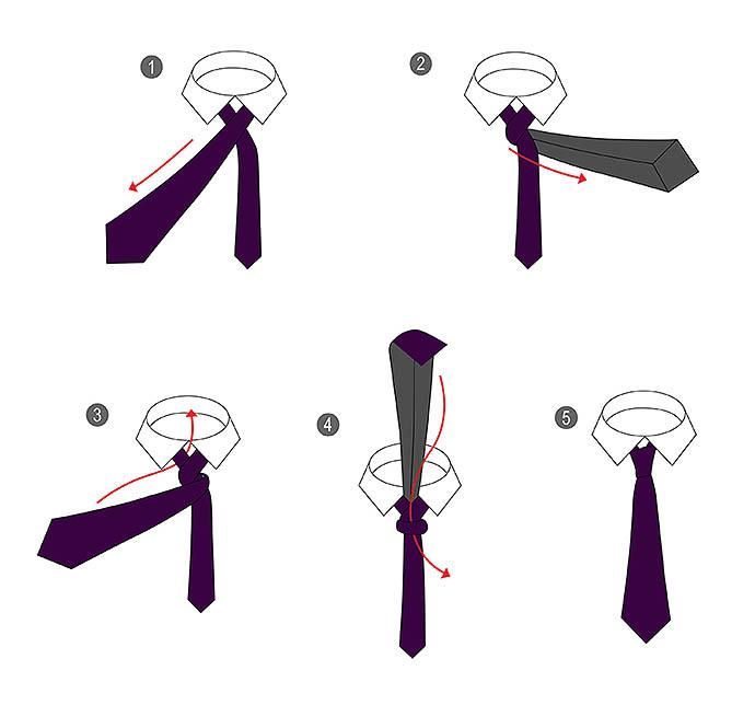 Способы завязывать галстук фото