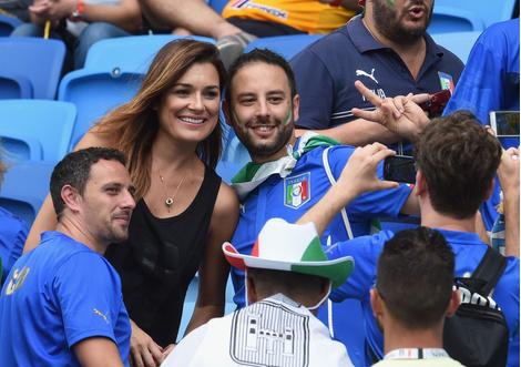Алена Шередова с поклонниками сборной Италии