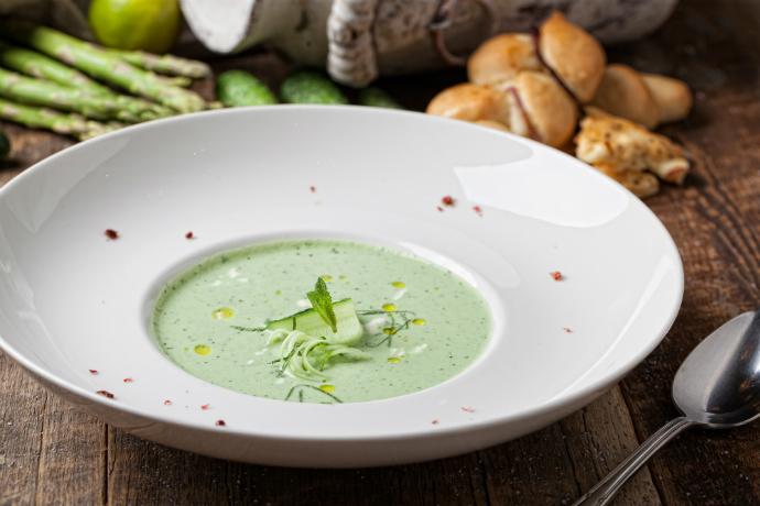Холодный огуречный суп с фетой