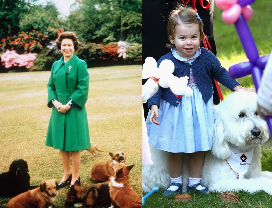 Королева Елизавета II / Принцесса Шарлотта