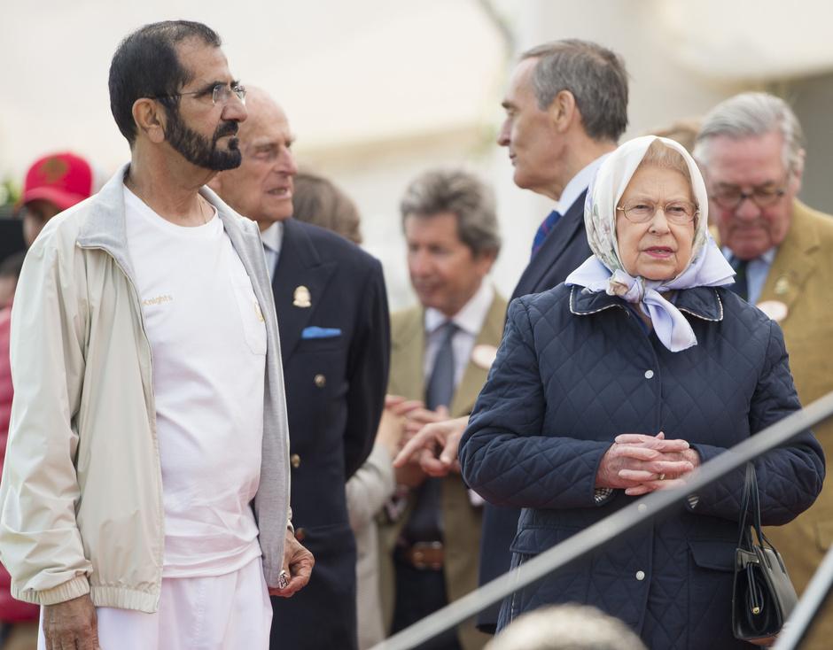 Шейх Мохаммед бин Рашид аль-Мактум и Елизавета II