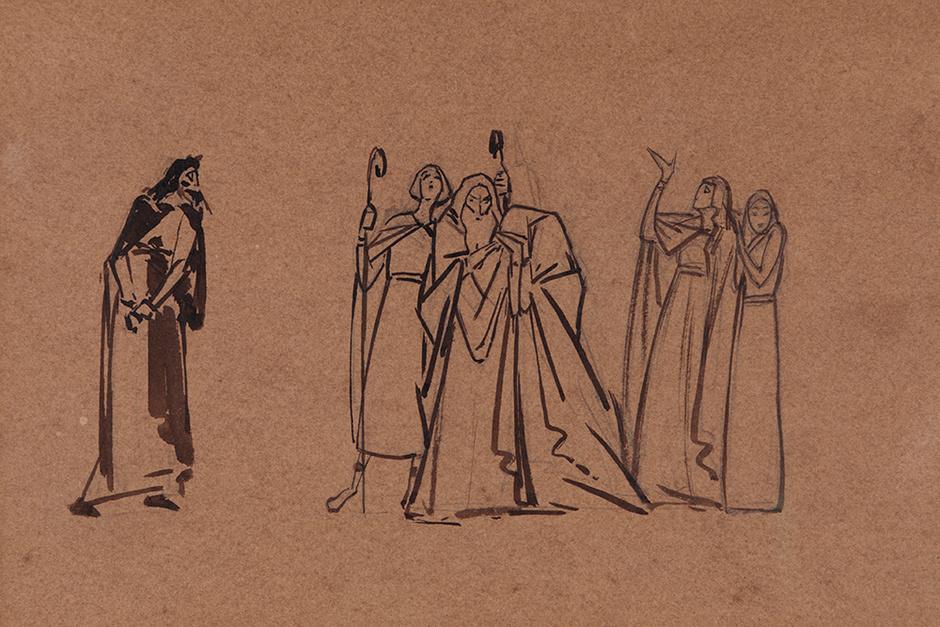 «Самуил против Саула», М.А. Врубель, 1889-1890 гг.
