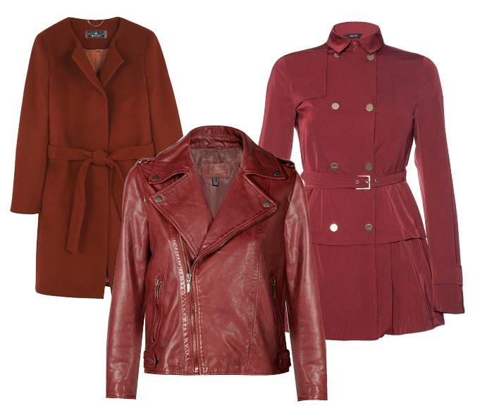 Выбор ELLE: пальто Massimo Dutti, байкерский жакет Mango, тренч Liu Jo (Brand in Trend)