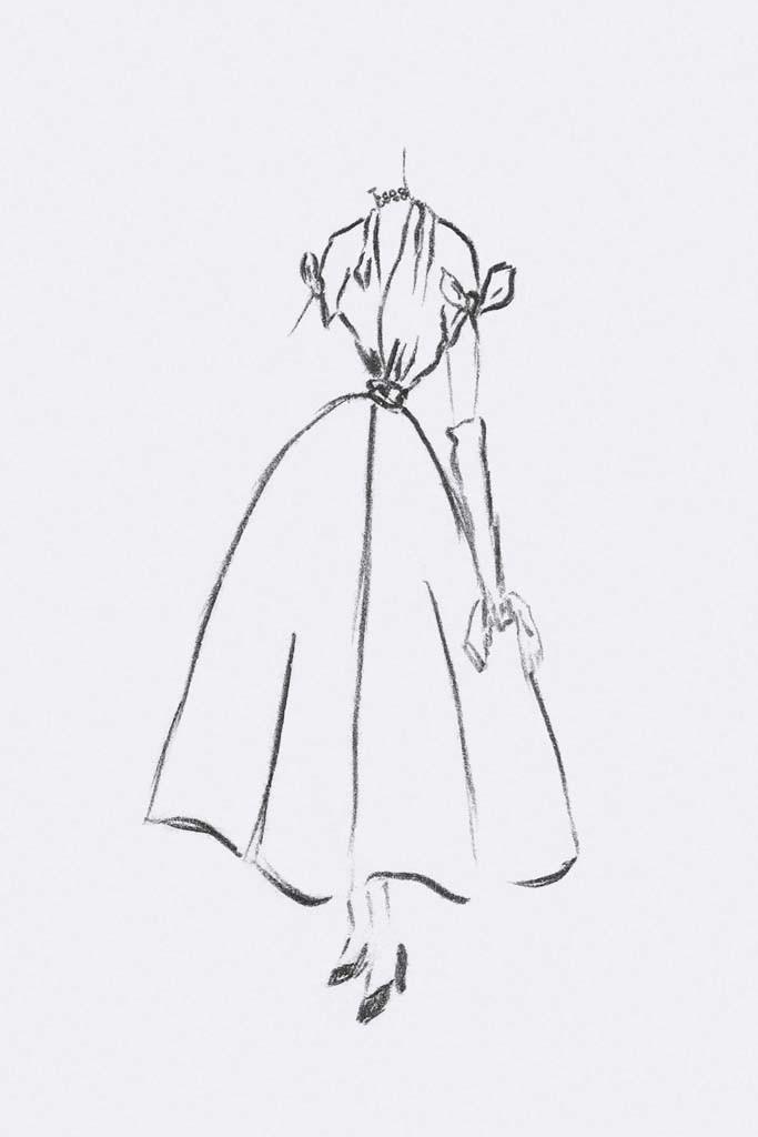 Платье, послужившее вдохновением на создание колье