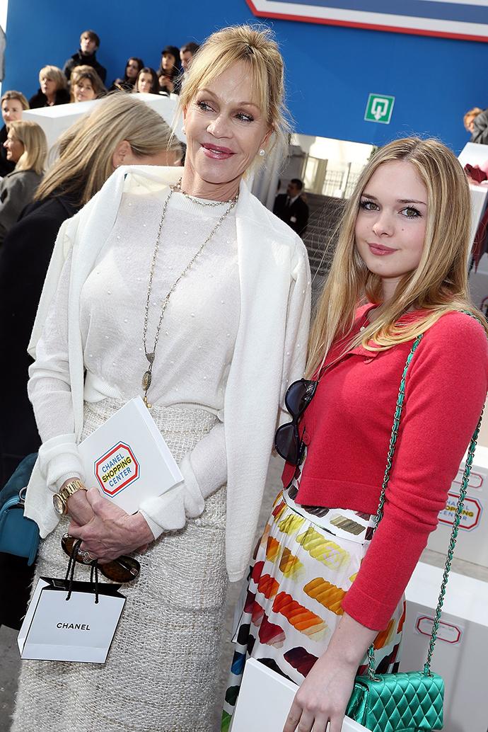 Мелани Гриффит с дочерью Стеллой Бандерас