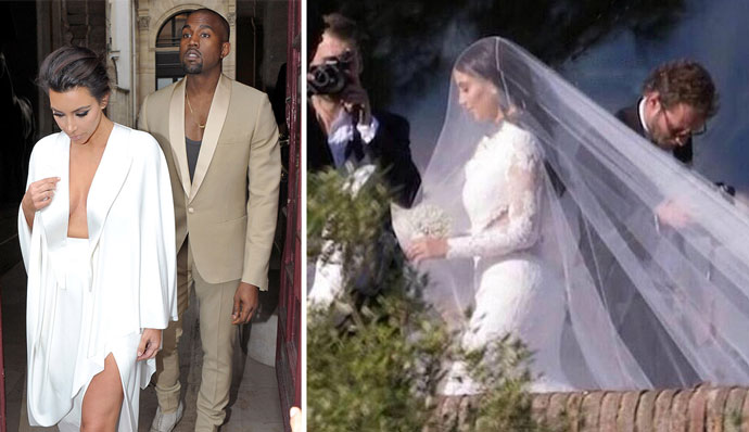 Ким Кардашьян и Канье Уэст поженились