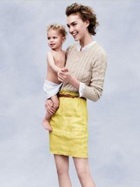Аризона Мьюз с сыном в рекламной кампании J.Crew