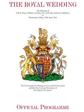 Обложка официальной программы королевской свадьбы
