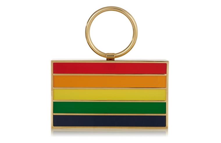 Разноцветный полосатый клатч в ретро-стиле