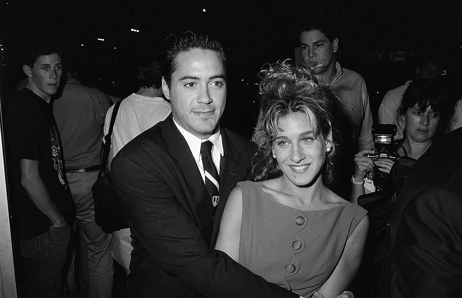 Робертом Дауни-младшим и Сара Джессика Паркер, 1990 год