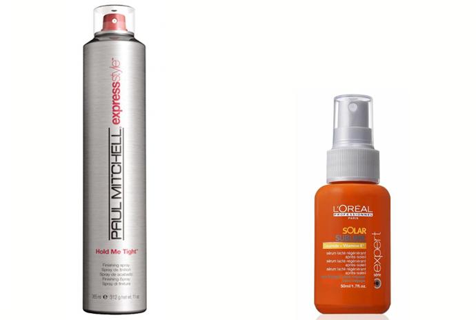 Лак для волос Paul Mitchell Hold Me Tight; Восстанавливающая сыворотка L'Oreal Professional Solar Sublime