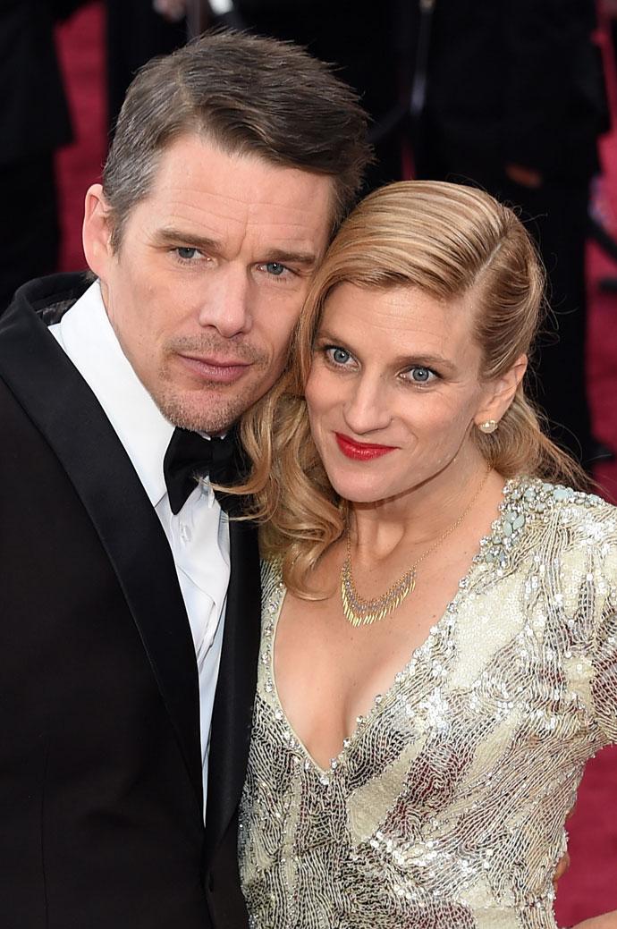 Итан Хоук с женой Райан