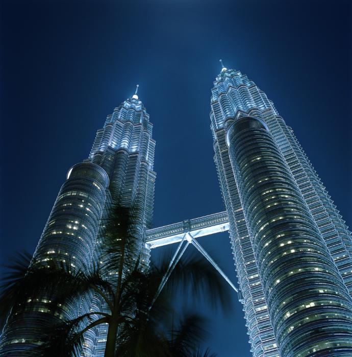 Skybridge в башнях Петронас, Куала-Лумпур, Малайзия