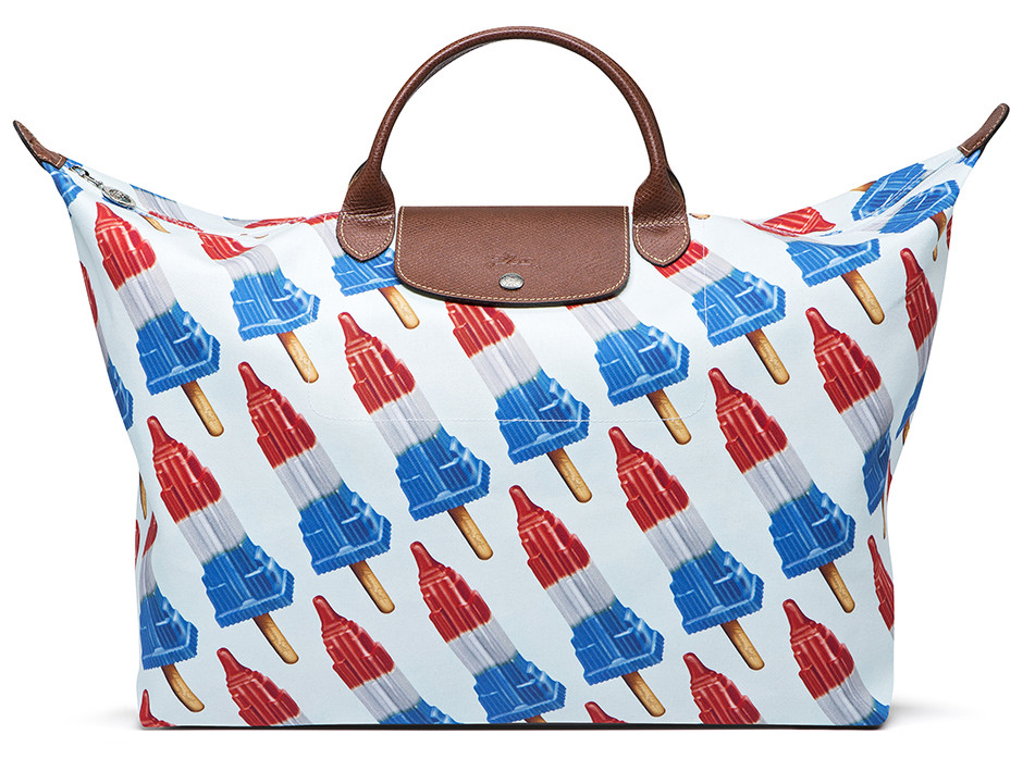 Longchamp Empire State Popsicle bag by Jeremy Scott