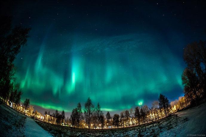 Северное сияние, Архангельская область