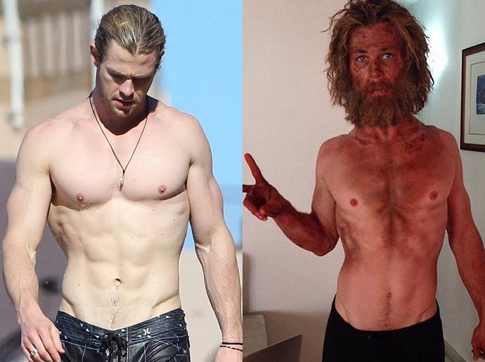 Крис Хемсворт до и после драматического похудания