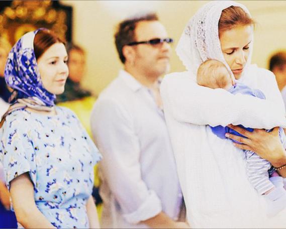 Крещение сына Владимира Преснякова и Натальи Подольской