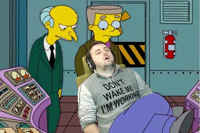 «Спящий» в роли Гомера Симпсона