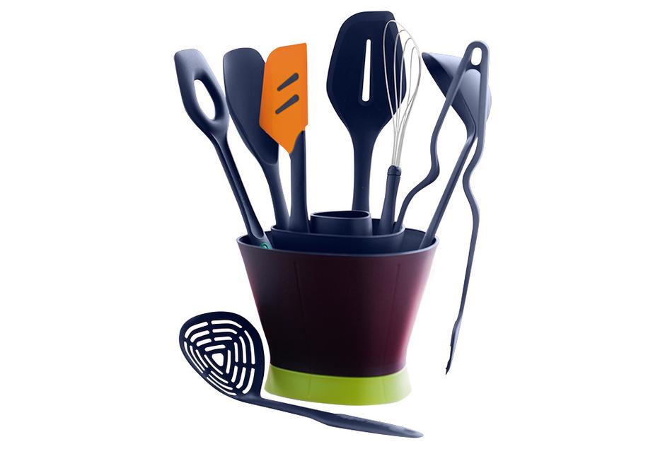 Кухонные приборы «Диско», термостойкий полимер, силикон, металл, Tupperware, www. tupperware.ru