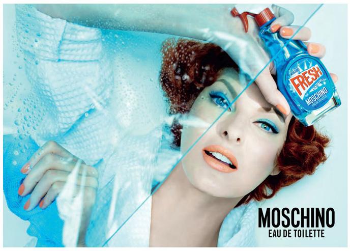Линда Евангелиста в новой рекламной кампании Moschino Fresh