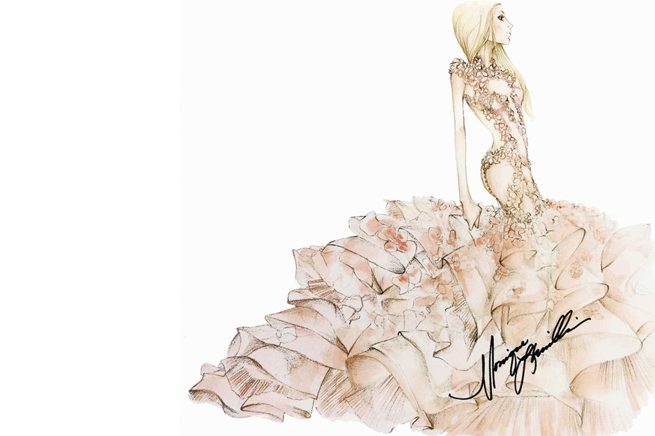 Свадебное платье Леди Гага от Monique Lhuillier