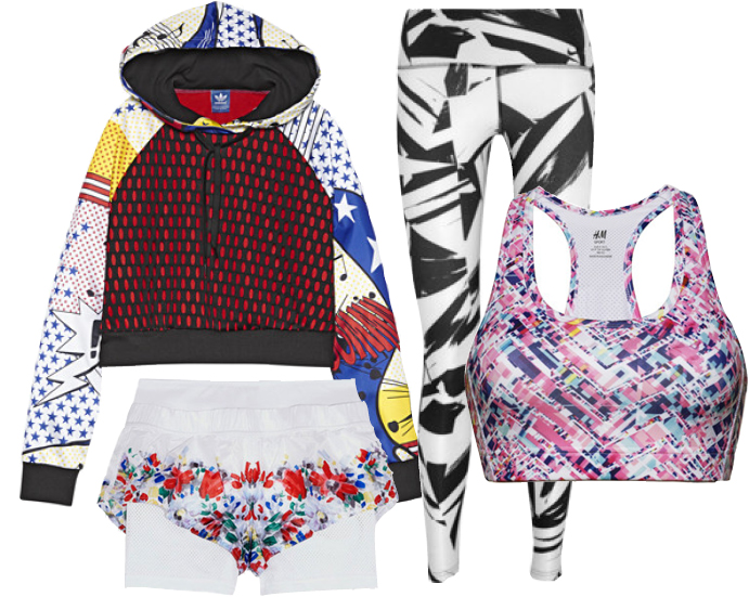 Выбор ELLE: толстовка Adidas by Rita Ora, шорты Adidas by Stella McCartney, легинсы Nike, бра-топ H&M