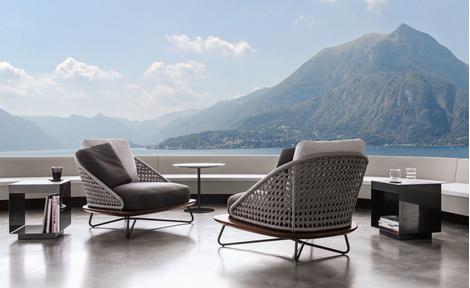 Outdoor коллекция мебели Rivera от фабрики Minotti | галерея [1] фото [3]