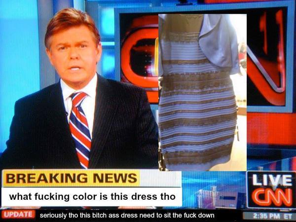 Новость дня: так какого, черт возьми, цвета платье?
