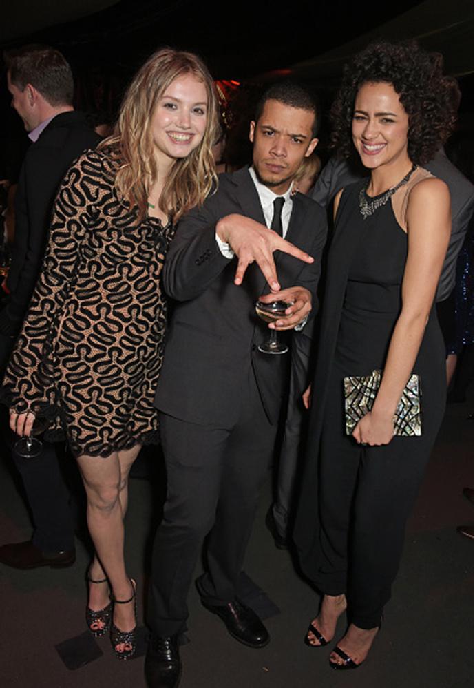 Hannah Murray, Jacob Anderson and Nathalie Emmanuel
