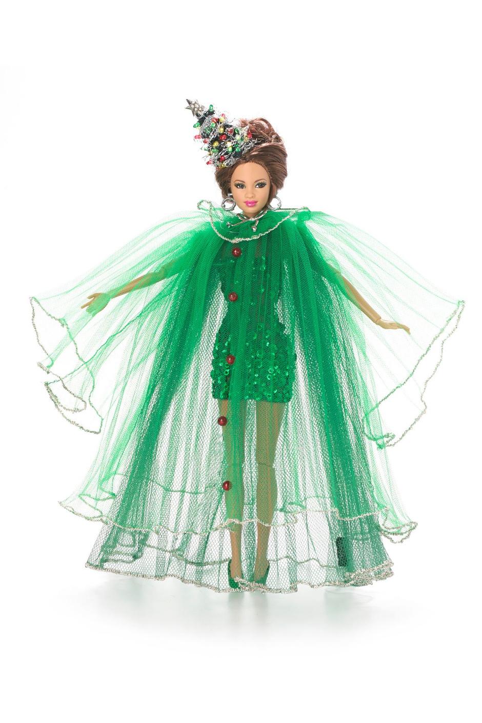 кукла барби платье