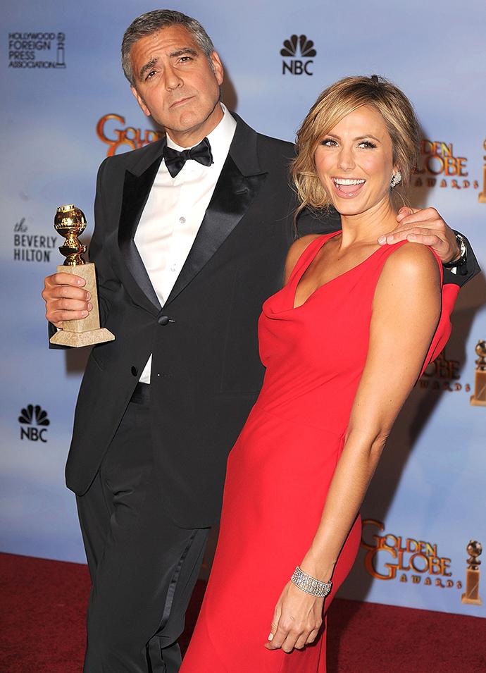 "Джордж Клуни и Стейси Кейблер на церемонии ""Золотой глобус"", 2012"