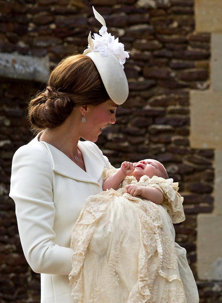 Кэтрин Элизабет с принцессой Шарлоттой