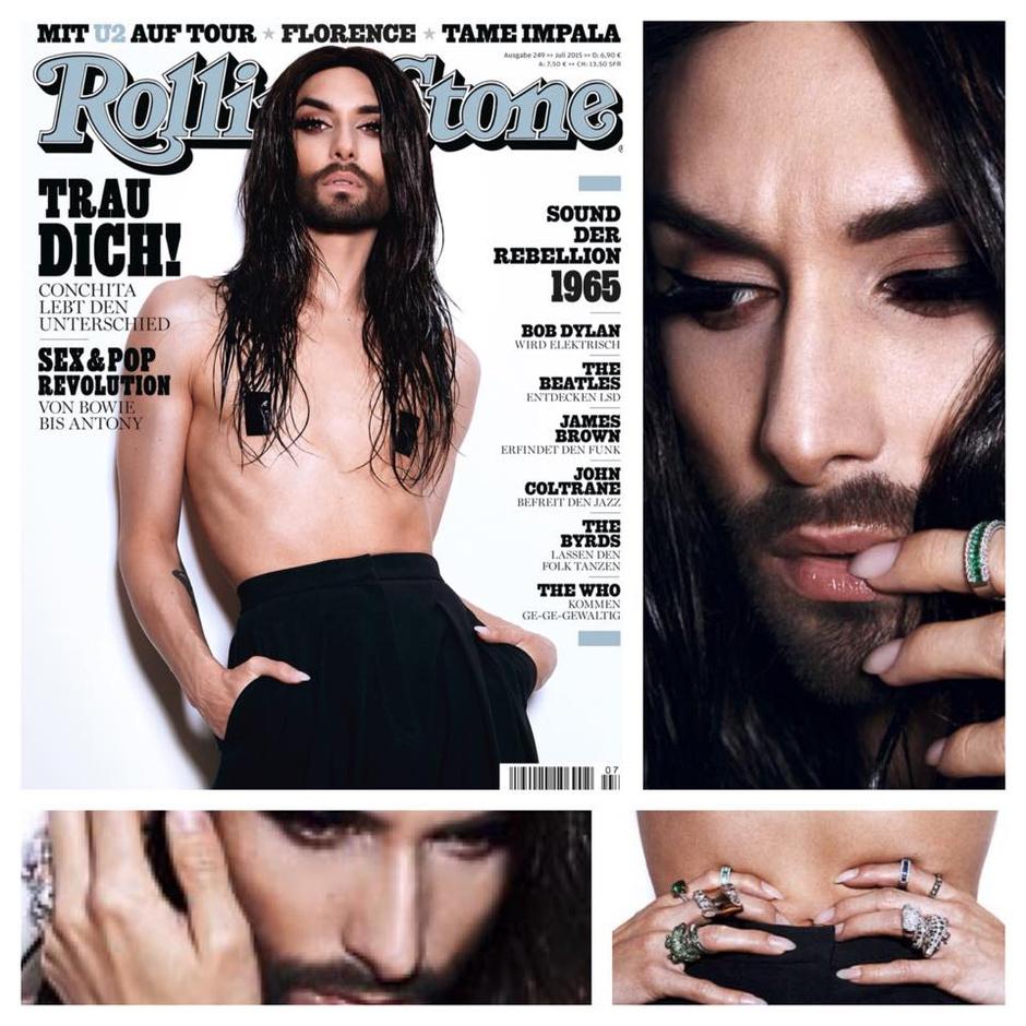 Кончита Вурст на обложке июльского номера Rolling Stone