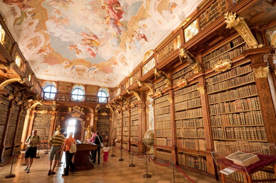 Монастырская библиотека в Мельке, Австрия