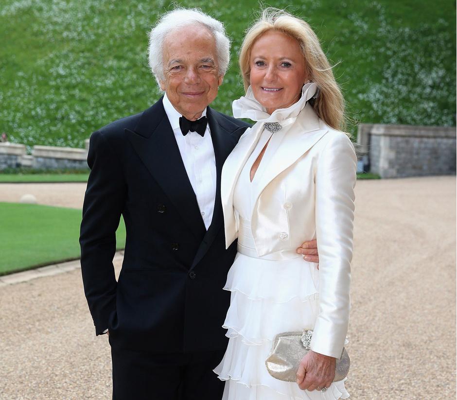 Ральф и Рики Лорен на приеме у Принца Гарри, май 2014