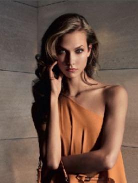 Карли Клосс в рекламной кампании Elie Saab весна-лето 2012